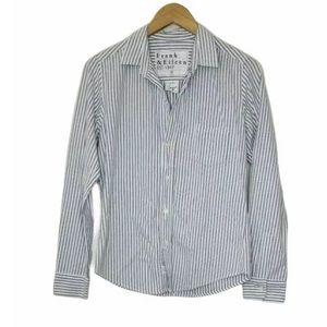 Frank & Eileen Barry Striped Shirt Cotton Size S